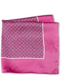 Pañuelo de bolsillo estampado rosa