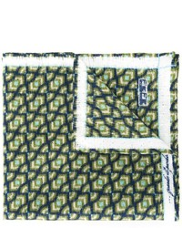 Pañuelo de bolsillo estampado verde oscuro de fe-fe