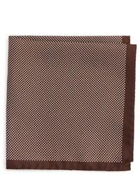 Pañuelo de bolsillo marrón de Eton