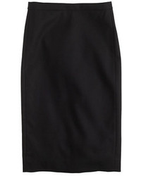 Pair a black cropped top with a pencil skirt for a casual level of dress.