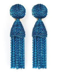 Pendientes azules de Oscar de la Renta