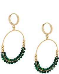 Pendientes con cuentas verde oliva de Isabel Marant