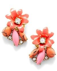 Pendientes con print de flores rosados de Kate Spade