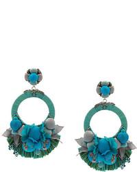 Pendientes en verde azulado de Ranjana Khan