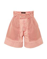 Isabel Marant Twen High Rise Ed Denim Shorts