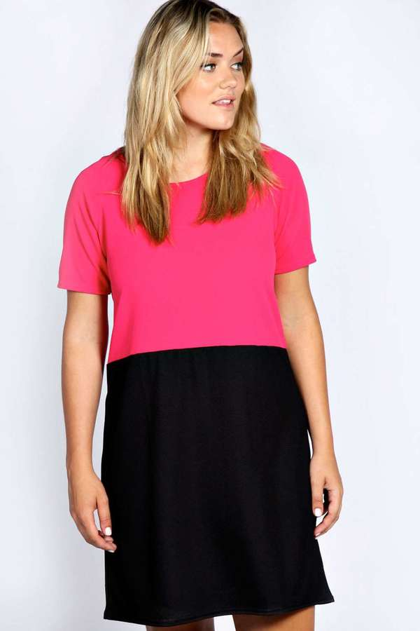c572e65cdb14a Boohoo Georgie Colour Block Shift Dress, $30 | BooHoo | Lookastic.com