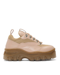MSGM Pink Low Cut Tractor Sneakers