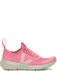 Rick Owens Pink Veja Edition Runner Style 2 V Sneakers