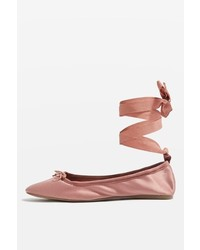Topshop Violet Satin Ballet Shoes