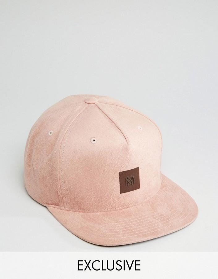2a30d6a8605 ... Pink Baseball Caps Mitchell   Ness Snapback Cap To Asos