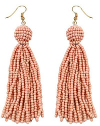 Gemma Collection Coral Tassel Earrings