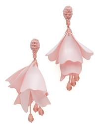 Impatiens flower drop clip on earrings medium 916400