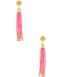 Gorjana Salina Beaded Tassel Earrings In Metallic Gold