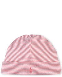 Ralph Lauren Baby Girls Striped Beanie Style Hat