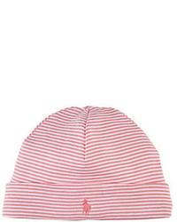 Ralph Lauren Childrenswear Striped Beanie Pink