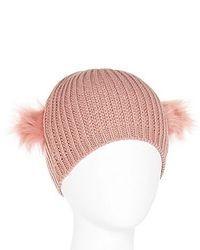 jcpenney Faux Fur Eared Beanie Hat