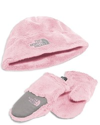 The North Face Girls Baby Oso Cute Collection Beanie Mitten Set Baby