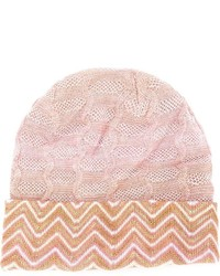Missoni Signature Zig Zag Knit Beanie Hat