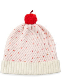 Kate Spade New York Cupcake Beaded Beanie Hat Pink