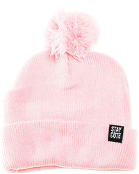 Stay Cute The Everyday Pom Beanie In Pink