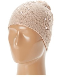 Sperry Top Sider Cable Knit Sequin Beanie W Pom Beanies