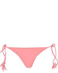 River Island Coral Flower Tie Side Bikini Bottoms