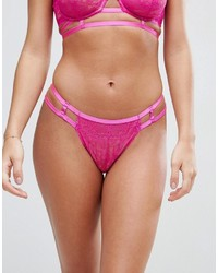 Asos Logan Eyelash Lace Strappy Hipster Bikini Bottom