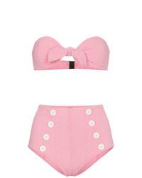 Lisa Marie Fernandez Poppy High Waisted Seersucker Bikini