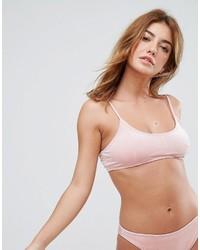 Missguided Velvet Cami Bikini Top