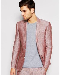 Asos Brand Slim Fit Blazer In 100 % Linen