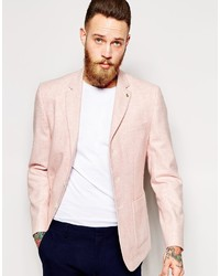 Asos Brand Slim Fit Blazer In Summer Tweed