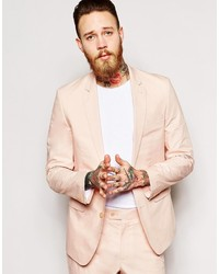 Asos Brand Slim Fit Suit Jacket In Poplin