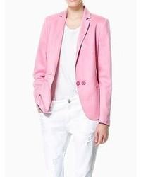 Choies Casual Pink Blazer