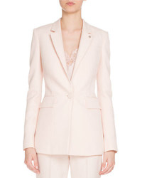 Fitted single button blazer light pink medium 3995486