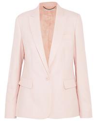 Stella McCartney Ingrid Wool Piqu Blazer Pastel Pink