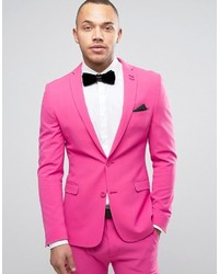 Asos Super Skinny Prom Suit Jacket In Pink