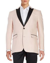 Tallia Orange Mason Collection Two Button Colorblocked Jacket