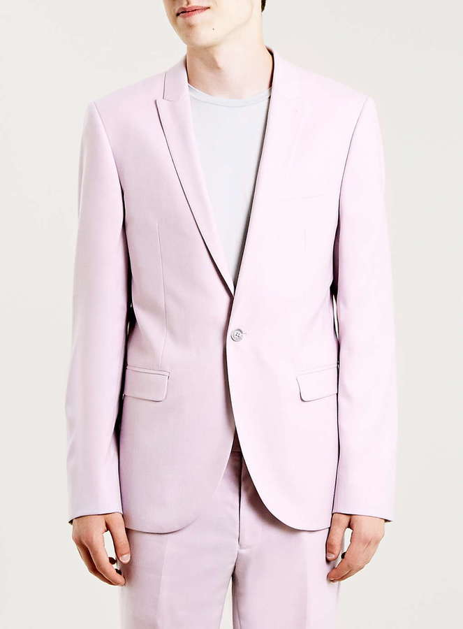 Topman Lightweight Pink Skinny Fit Suit Jacket | Where to buy ...