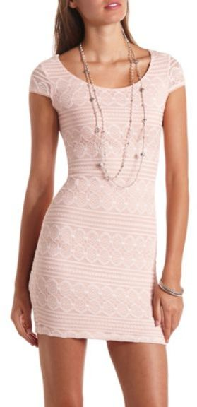 28 Charlotte Russe Embroidered Lace Bodycon Dress