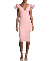 Chiara Boni La Petite Robe Belvis Rosette Bodycon Cocktail Dress