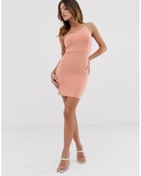 ASOS DESIGN Going Out One Shoulder Bodycon Mini Dress