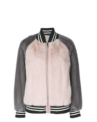 Liska Colour Block Bomber Jacket