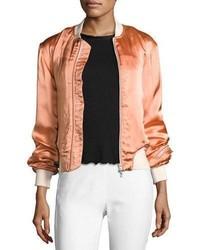 Morton sateen bomber jacket pink medium 3741405