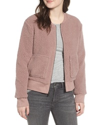 Marc New York Teddy Fleece Bomber Jacket