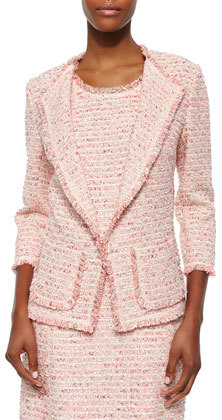 Neiman Marcus Boucle 34 Sleeve Jacket | Where to buy & how to wear
