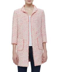 Fringe trim boucle jacket medium 167035