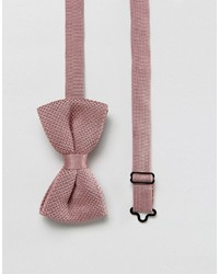 Asos Knitted Bow Tie In Pink