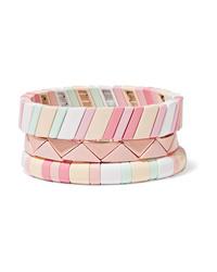 Roxanne Assoulin Bahamas Set Of Three Enamel Bracelets