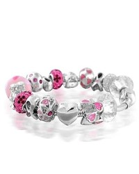Bling Jewelry Breast Cancer Awareness Fits Pandora Charm Bracelet 925 Sterling