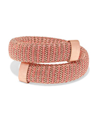 Carolina Bucci Caro Gold Plated Cotton And Lurex Bracelet